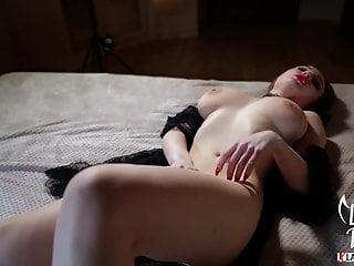 Big Tits Brunette Fingering with Multiple Orgasm