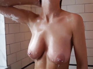 Teen Amateur Big Tits Bubble In the Shower -- Retouch
