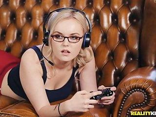 Gamer girl River Fox needs a big dick as well