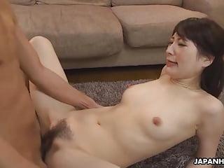 Japanese housewife, Noeru Mitsushima was being a real slut,